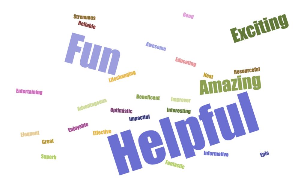 word graphic helpful fun
